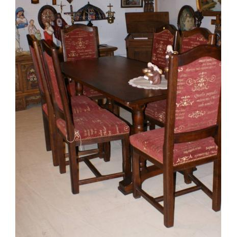 red chairs with table