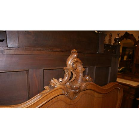 Louis XV Oak Bed Detail