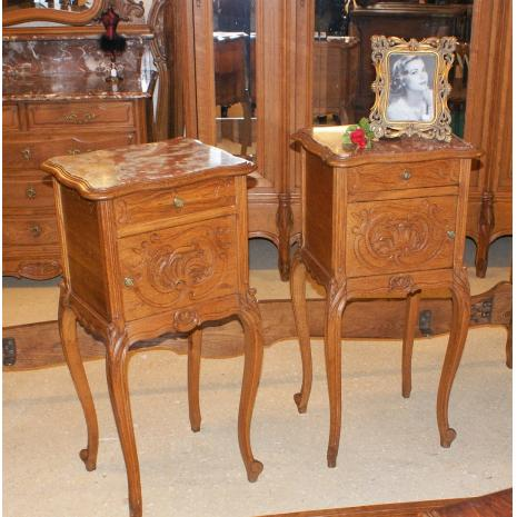 Louis XV Oak Nightstands