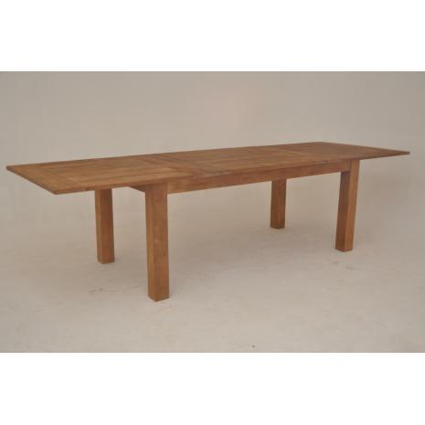 Teak Extension Table 200 open