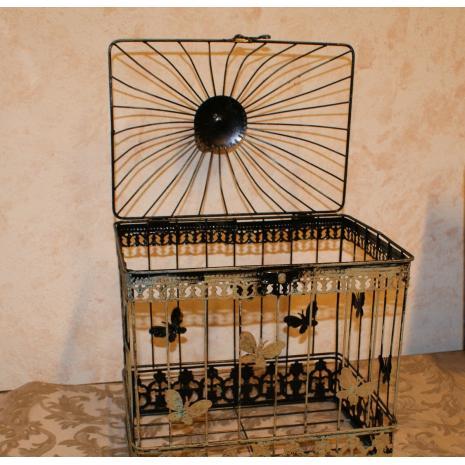 Rectangular Bird Cage Open