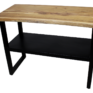 Live-edge Console Table with Shelf