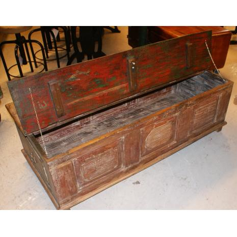 Distressed trunk open