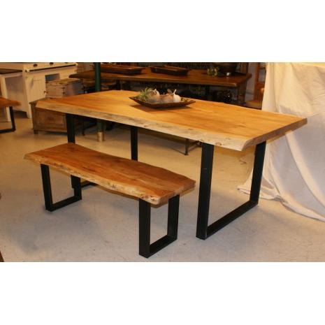 Live Edge Table and Bench
