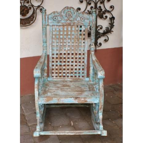 Sheesham rocking chair front