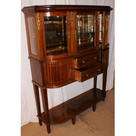 Louis XVI Walnut Display Cabinet