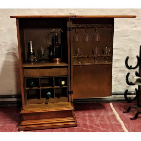 English Walnut Bar Cabinet