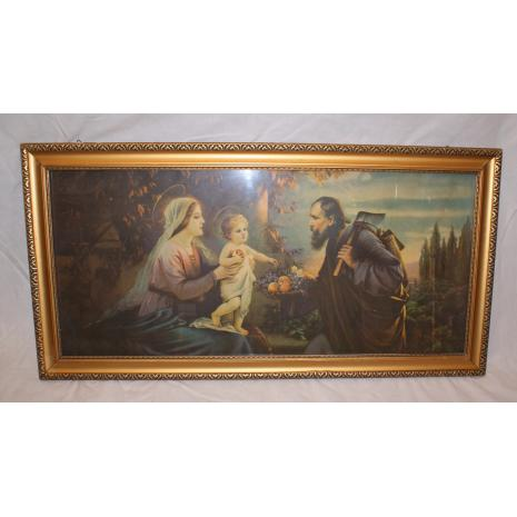 Framed Virgin Mary and Baby Jesus Print