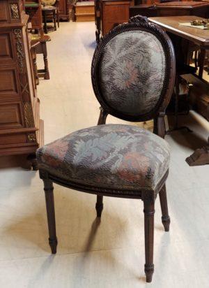 Louis XVI oak chair set