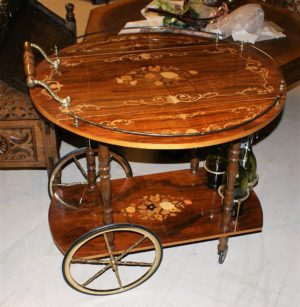 Italian Rosewood Tea Cart