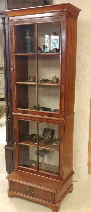 English Mahogany China Cabinet