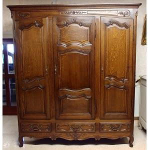 French Provence Oak Wardrobe