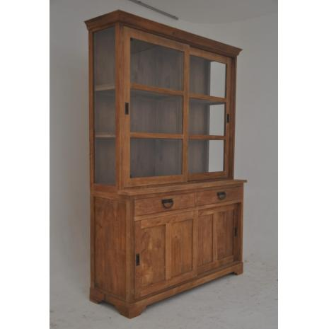 Light Teak Shop Cabinet