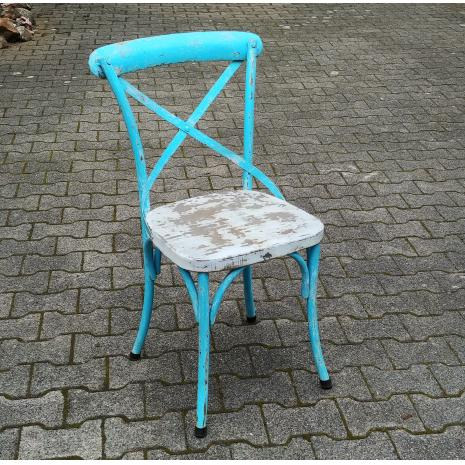 Sai Blue Metal Chair
