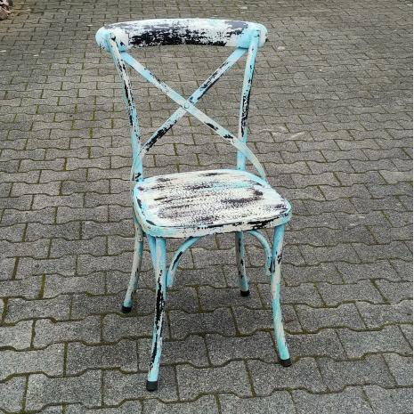 Sai White Wash Metal Chair