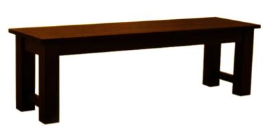 Dark Teak Dining Bench