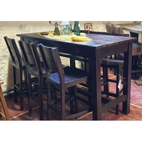 Teak Bar Table Set
